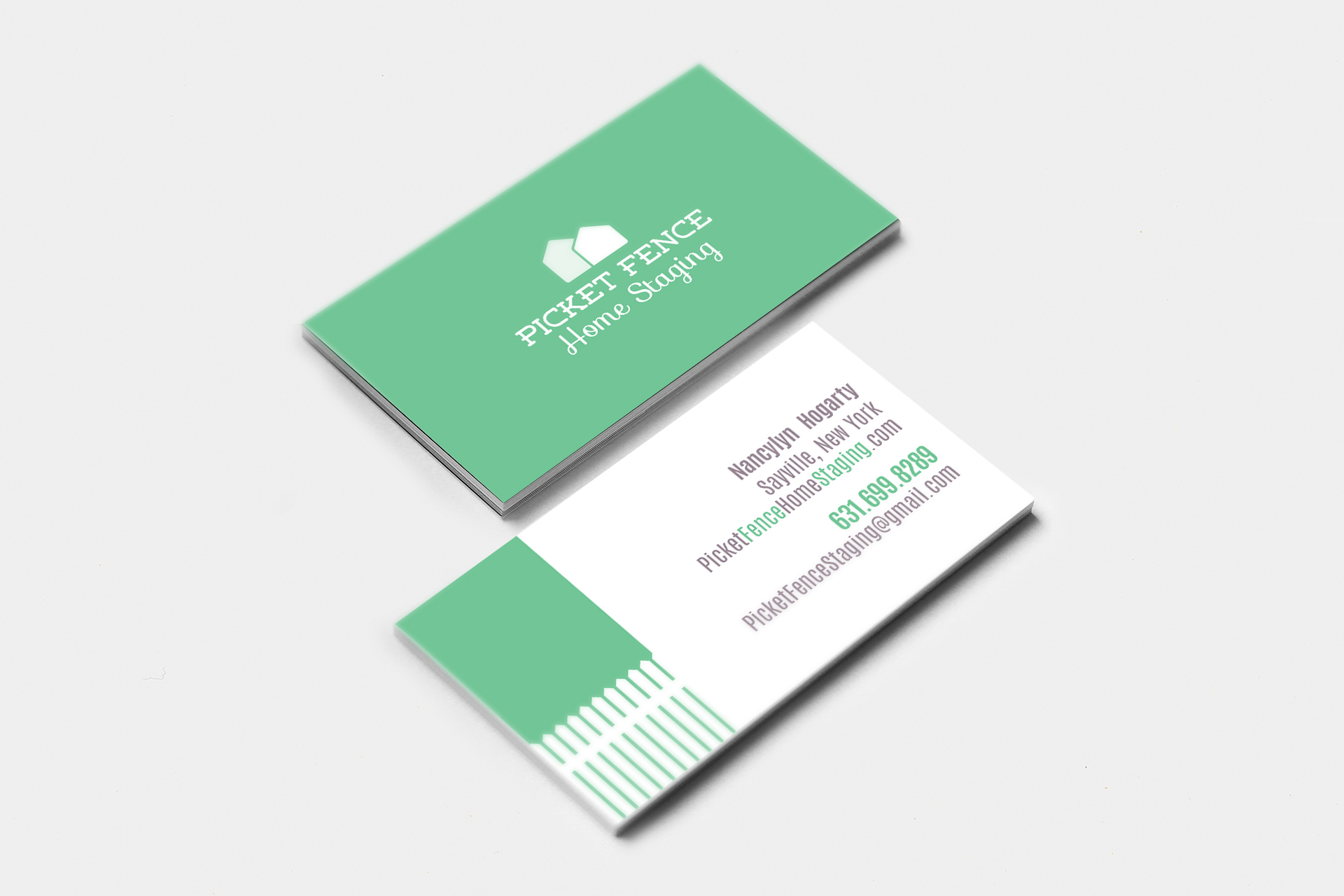 Picket Fences Business Cards