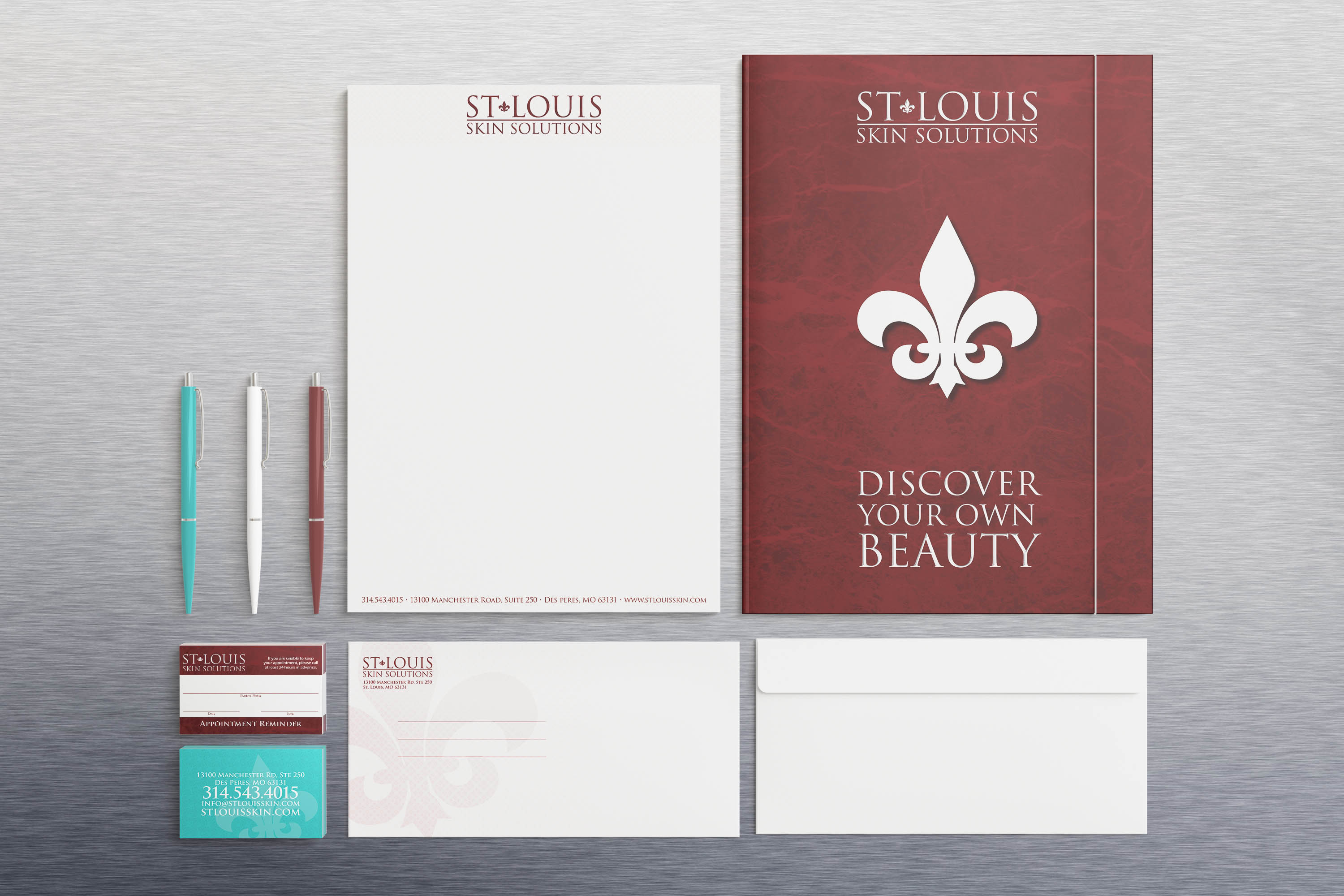 St. Louis Skin Solutions Stationery Set